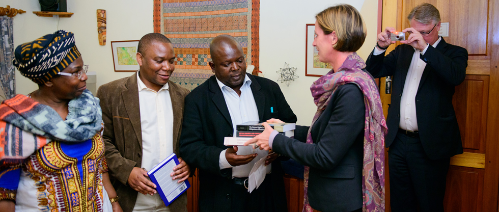 Africa University (AU) receives a donation of library books worth US$5 000.00 from the Swedish Embassy.